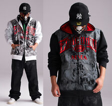 Man's Ecko Unltd Zipper Warm Hoodie Sweater Coat Graffiti Sweatshirt Hip Hop