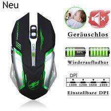6 Tasten Geräuschlos USB Gaming Kabellos Maus Wiederaufladbar Funkmaus Mouse