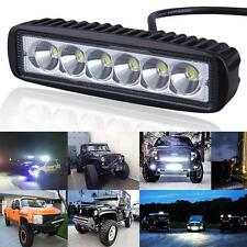 12V LED Bar 18W Flood Spot Work Light  Fog Lamp OffRoad Boat Truck ATV 4x4 4WD