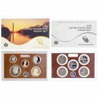 2018 S Proof Set Original Box & COA 10 Coins CN-Clad US Mint