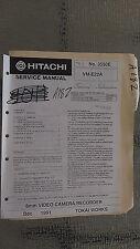 Hitachi vm-e22a service manual original repair book 8mm video camera