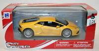 NewRay 1/24 Scale Metal Model Car 71313 - Lamborghini Huracan LP 610-4 - Yellow