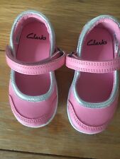 Baby Girl Clarks Shoes Size 41/2 E