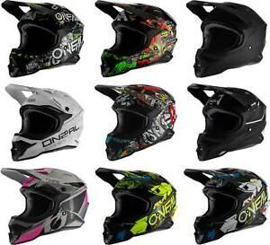 O'Neal 3 Series Helmet - MX Motocross Dirt Bike Off-Road ATV Mens Womens Adult
