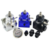 Injected Adjustable Fuel Pressure Regulator With Boost Anodized Blue AN6 AN8