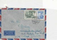 austria 1956 united nations air mail stamps cover ref 21202