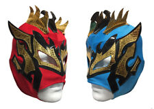 2 pack KALISTO YOUTH KIDS Wrestling Mask Lucha Libre Mask Party Pack RED/BLUE