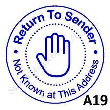 Personalised Custom Self inking Pre inked return to sender Stamps Round 40mm A19