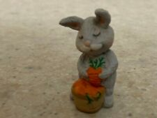 Hallmark 1992 Merry Miniature Bunny with Carrot and Gold Sticker