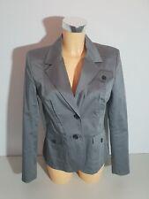 TOMMY HILFIGER  Damen  Blazer Jacke  US 8  DE 36  grau  tailliert  neuwertig