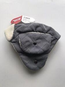 Gray Trapper Corduroy Dog  Hat
