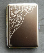 Satin Finish Venice Metal Pocket Cigarette Case Made in Germany