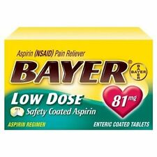 Bayer Low Dose Safety Coated Aspirin 81mg 32 Tablets Each