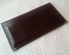 TILLEY CANADA Burgundy LEATHER Suit Breast Wallet ID Credit Card Organizer NICE