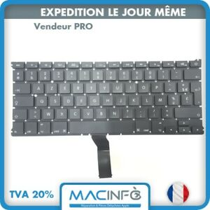 "Clavier Apple MacBook Air 13"" 2011 A 2017 A1369 A1466 Français Azerty"