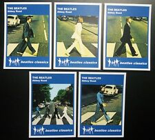 Set of 5 BEATLES CLASSICS trade cards - ABBEY ROAD - Blue series