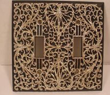 Vintage Black & Silver Light Switch Plate Cover Outlet ORNATE