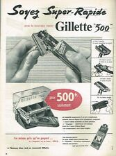C- Publicité Advertising 1955 Le Rasoir Gillette 500