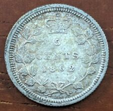 1862 MS UNC New Brunswick Canada 5 Cent Silver Half Dime $1500+ Book Coin Lot F4