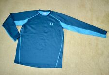 Under Armour Fitted ColdGear Infrared Mens Long Sleeve Athletic Top Blue Sz Xl