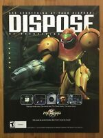 Metroid Prime Gamecube 2002 Vintage Poster Ad Art Print Official Promo Rare!