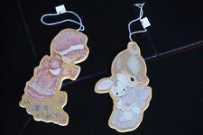 Christmas Ornaments Set Lot Tree Precious Moments Girl Teddy Bunny Doll Wooden