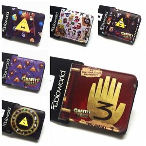 Gravity Falls Journal Number Wallet Bifold Purse PU Leather Card Holders Gift