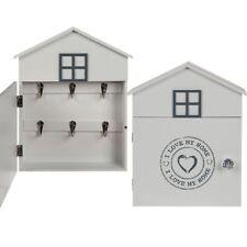 WHITE HOUSE 6 HOOKS WOODEN KEY HOLDER CABINET BOX