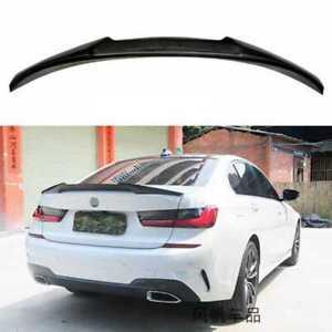 For 2019-2021 BMW 3-Series G20 330i M340i M4 V Style Carbon Fiber Trunk Spoiler