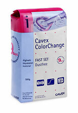 Cavex Colour Change Alginate Fast Set 500g Dental Impressions Casting Baby