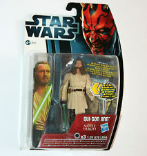 Star Wars MOVIE HEROES Figure - QUI-GON JINN (MH18) with Light-Up Lightsaber