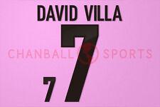 David Villa #7 EURO 2012 Spain Awaykit Nameset Printing