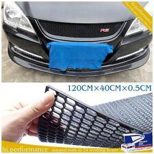 UNIVERSAL HONEYCOMB ABS PLASTIC BLACK MESH GRILL Spoiler Bumper Vent 120 X 40 CM