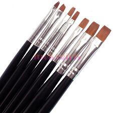 7 Pcs Acrylic Uv Gel Builder Drawing Painting Nail Art Pens brushes Tools Set