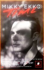 MIKKY EKKO Time 2015 Ltd Ed New RARE Poster +FREE Indie/Pop/Dance/Rock Poster