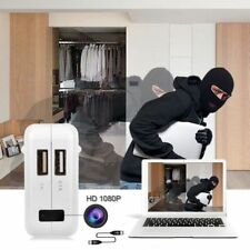 HD 1080P Spy Camera USB Wall Charger AC Adapter Nanny Camcorder Mini US Plug