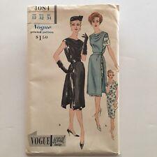 Vtg 50s Vogue Special Design 4084 Uncut Sewing Pattern Sz 12 Dress & Tunic Dress