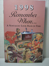 19th Birthday / Anniversary - 1998 Remember When Nostalgic Book Card  - NEW