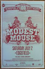 MODEST MOUSE 2011 Gig POSTER Edgefield Portland Oregon Concert