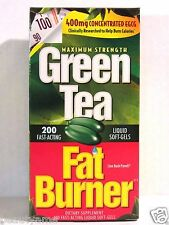 Applied Nutrition Green Tea Fat Burner 400mg EGCG Weight Loss Pills 200 Softgels