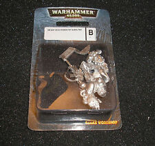 40k Rare oop Vintage Blister Metal Mail Order Space Marine Veteran Power Fist