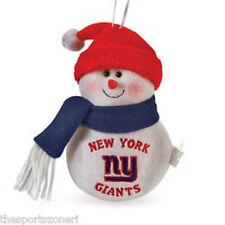 "New York Giants 6"" Plush Snowman Ornament"