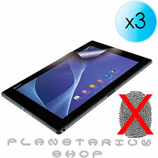 3x SHEETS PROTECTOR MATTE SCREEN ANTI-FINGERPRINT FOR SONY XPERIA Z2 TABLET SG