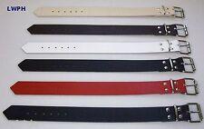 Lederriemen Blau 4,0 x 40,0 cm lang mit Rollschnalle Lederband auch Halsband