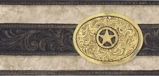 Cowboy Belt Buckle Wallpaper Border by York
