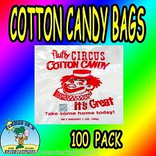 100 Cotton Candy Bags-Circus Clown-Gold Metal- New