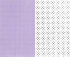 8 Sheets A4 Purple Dot and Purple Gingham Card 4 of each 240gsm New
