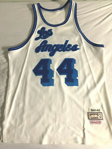 RARE Size 46 100% Authentic Mitchell & Ness LA Lakers 1961-62 Jerry West Jersey