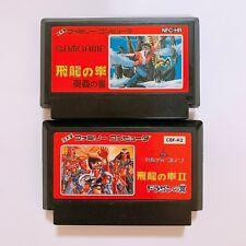 Hiryu no Ken Flying Dragon 1 2  SET Famicom Japan FC NES