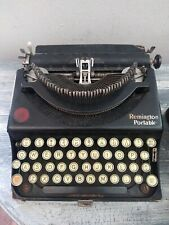 Antique Remington Model #1 1922 Portable Typewriter w/case NZ27412